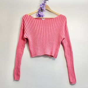 Garage Knit Sweater Pink